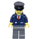 LEGO Train conductor with black cap Minifigure