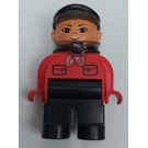 LEGO Train conductor with red top