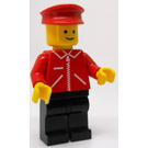 LEGO Train Depot Worker with Red Jacket with Zipper Minifigure