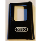 LEGO Train Door 1 x 4 x 5 Right with Sticker from Set 5590 (4182)