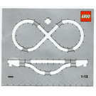 LEGO Train Track Layout Cardboard 1:13 Scale Template