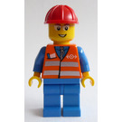 LEGO Train Worker with Orange Safety Vest and thin rim glasses 3677 Minifigure