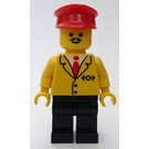 LEGO Train Worker with Yellow Suit Jacket Minifigure