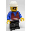 LEGO Trains Worker with Red Vest and Sunglasses Minifigure