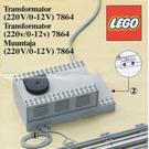 LEGO Transformer / Speed Controller 12 V Set 7864 Instructions