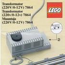 LEGO Transformer / Speed Controller 12V Set 7864 Instructions