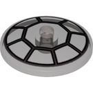 LEGO Transparent Black Dish 4 x 4 with Fighter Cockpit with Solid Stud (51956)