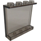 LEGO Transparent Black Panel 1 x 4 x 3 with Side Supports, Hollow Studs (35323 / 87543)