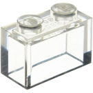 LEGO Transparent Brick 1 x 2 without Bottom Tube (3065 / 35743)