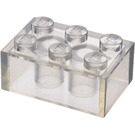 LEGO Transparent Brick 2 x 3 (Earlier, without Cross Supports)