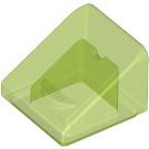 LEGO Transparent Bright Green Slope 1 x 1 (31°) (35338 / 50746)