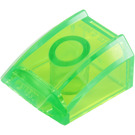 LEGO Transparent Bright Green Slope 1 x 2 x 2 Curved (47904)