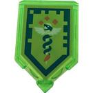 LEGO Transparent Bright Green Tile 2 x 3 Pentagonal with Serpent of Anti-Venom Power Shield