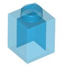 LEGO Transparent Dark Blue Brick 1 x 1 (3005 / 30071)