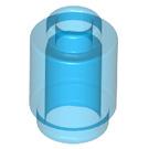 LEGO Transparent Dark Blue Brick 1 x 1 Round with Open Stud (3062 / 30068 / 35390)