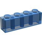 LEGO Transparent Dark Blue Brick 1 x 4 (3010 / 6146)