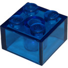 LEGO Transparent Dark Blue Brick 2 x 2 (6223 / 35275)