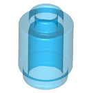 LEGO Transparent Dark Blue Brick Round 1 x 1 with Open Stud (3062 / 30068 / 35390)
