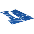LEGO Transparent Dark Blue Design and Technology Panels (57046 / 58564)