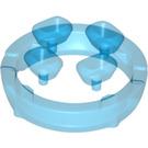 LEGO Transparent Dark Blue Four Diamonds on Sprue (36451)