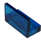 LEGO Transparent Dark Blue Panel 1 x 2 x 1 without Rounded Corners (30010)