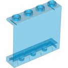 LEGO Transparent Dark Blue Panel 1 x 4 x 3 without Side Supports, Hollow Studs (30007)