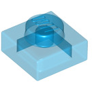 LEGO Transparent Dark Blue Plate 1 x 1 (3024 / 28554 / 30008)
