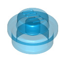 LEGO Transparent Dark Blue Plate 1 x 1 Round (6141 / 30057 / 34823)