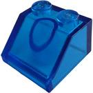 LEGO Transparent Dark Blue Slope 2 x 2 (45°) (6227 / 35277)