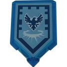 LEGO Transparent Dark Blue Tile 2 x 3 Pentagonal Stronghold of Resolution Power Shield