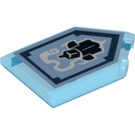 LEGO Transparent Dark Blue Tile 2 x 3 Pentagonal with Haunted Armor Power Shield (33772)