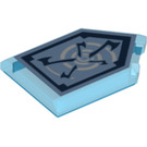 LEGO Transparent Dark Blue Tile 2 x 3 Pentagonal with Whirlwind Power Shield (24620)