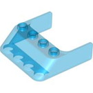 LEGO Transparent Dark Blue Windscreen 4 x 4 x 1, 45º (6238)