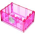 LEGO Transparent Dark Pink Box 4 x 6 2.33 with Sticker from Set 7581