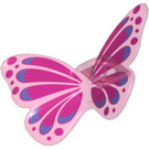 LEGO Transparent Dark Pink Minifigure Wings (33647)