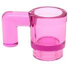 LEGO Transparent Dark Pink Mug (6264 / 28655)