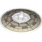LEGO Transparent Dish 6 x 6 Inverted with Compass Decoration on Concave Side Solid Studs (39022)