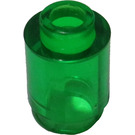 LEGO Transparent Green Brick 1 x 1 Round with Open Stud (3062 / 30068)