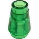 LEGO Transparent Green Cone 1 x 1 with Top Groove (28701 / 64288)