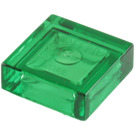 LEGO Transparent Green Tile 1 x 1 with Groove (3070 / 30039 / 35403)