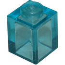 LEGO Transparent Light Blue Brick 1 x 1 (3005 / 30071)