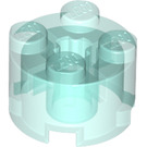 LEGO Transparent Light Blue Brick 2 x 2 Round (6116 / 39223)