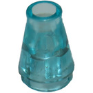 LEGO Transparent Light Blue Cone 1 x 1 without Top Groove (6188)