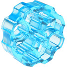 LEGO Transparent Light Blue Connector Round with Pin and Axle Holes (31520 / 98585)