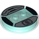 LEGO Transparent Light Blue Dimensions Stand - Cyborg (19981)