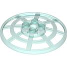 LEGO Transparent Light Blue Dish 6 x 6 Inverted Webbed Type 2 (Squared Holder Underneath) (24239 / 28732)