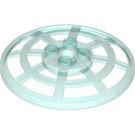 LEGO Transparent Light Blue Dish 6 x 6 Inverted Webbed Type 2 (Squared Holder Underneath) (24239 / 28732 / 30234)