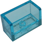 LEGO Transparent Light Blue Panel with Closed Corners 1 x 2 x 1 (23969 / 35387)