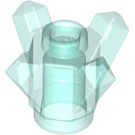 LEGO Transparent Light Blue Rock 1 x 1 with 4 Points (11127)