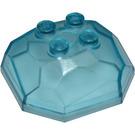 LEGO Bleu clair transparent Rock 4 x 4 x 1.333 Haut (30293)